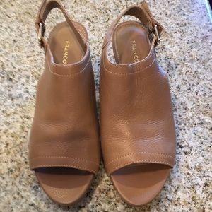 Franco Sarto tan leather L-Monaco sandals .